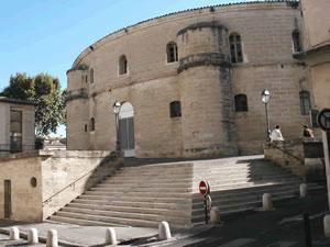 Uma das fachadas da Cidade Internacional da Dança, no antigo convento das Ursulinas